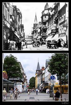 Kaiserslautern einst und heute - Marktstraße