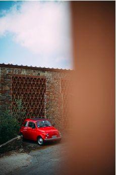 Red Vintage Fiat 500 - tuscaniaevents.com