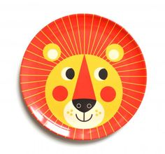 Lion melamine plate by Swedish Illustrator Ingela Arrhenius. Animal Plates, Kids Plates, Retro Kids, Messy Room, Swedish Design, Home Gifts, Gifts For Kids, Kids Room, Children