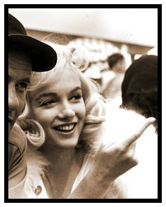 Marilyn with Eli Wallach on the set of The Misfits, 1960.