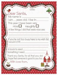 Free Santa Letter Templates For Kids