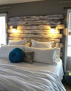 And Finally Another Great Reclaimed. Reclaimed Wood HeadboardWood Pallet  HeadboardsDiy ...