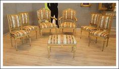 Salotto Poltrone Sedie Luigi XVI laccate dorate epoca 700