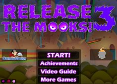 Play #ReleaseTheMooks3. More Mook stacking and balancing! Release all of the Mooks onto the platforms to complete each level. Mouse to drop a Mook. Change the difficulty for extra points.