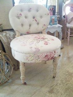 Pretty chair to go with a white vanity