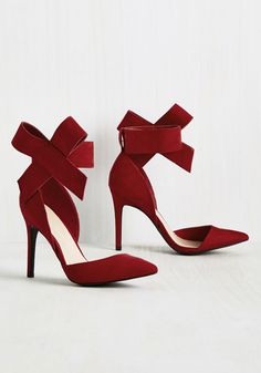 What's Yours Is Divine Heel in Ruby - Red, Solid, Bows, Party, Girls Night Out, Statement, Summer, Good, Variation, Red, Saturated, High, Faux Suede, Special Occasion, Prom, Wedding, Cocktail, Holiday, Holiday Party, Bridesmaid, Valentine's, Wedding Guest, Work