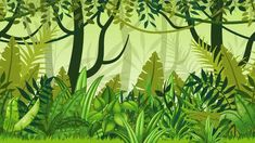 Illustration about Seamless nature jungle cartoon landscape. Illustration of nature, rainforest, background - 68883657 Plant Cartoon, Cartoon Trees, Illustration Jungle, Landscape Illustration, Background Drawing, Cartoon Background, Jungle Cartoon, Jungle Drawing, Jungle Tree