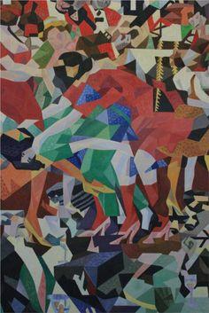 Untitled Artist: Gino Severini Style: Futurism Genre: symbolic painting