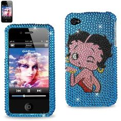 BETTY BOOP Premium Diamond Bling Rhinestone Protector Cover APPLE IPHONE 4/4S (4-Bling BB Blow Kiss Blue) by Betty Boop, http://www.amazon.com/dp/B006YFRKCG/ref=cm_sw_r_pi_dp_qGxJpb169HWYB