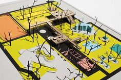 Can Am Landscaping Girard Il Landscape Model, Landscape Design Plans, Space Architecture, School Architecture, Architectural Design Studio, Architectural Models, Architectural Presentation, Collage Illustration, Scale Models
