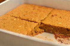 Pumpkin Breakfast Cake. Replace butter with coconut oil and it's on!