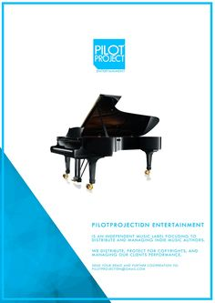 Music label bussiness poster. Pilotproject entertainment. An growing independent music label in indonesia.