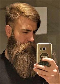 fine blond beard