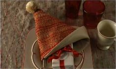 Watch Fold a Santa Hat Napkin in the Better Homes and Gardens Video