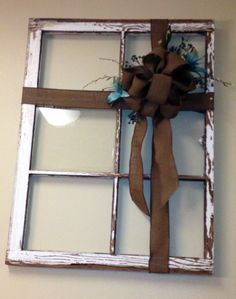 Recycle old windows in wall decor!