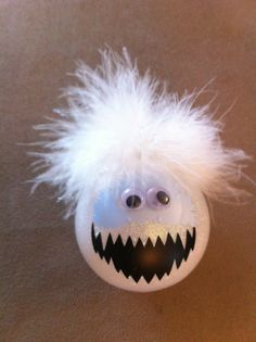 Bumble Abominable Snowman ornaments for this year's Holiday Gift Fair. Christmas Ornaments To Make, Snowman Ornaments, Christmas Projects, Handmade Christmas, Holiday Crafts, Christmas Holidays, Christmas Bulbs, Christmas Decorations, Glitter Ornaments