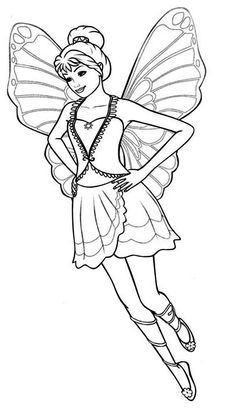 27 best barbie mariposa coloring pages