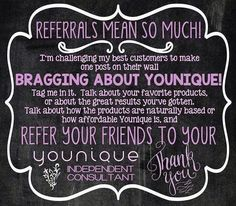 Referrals are the best! Need a lift? Try Younique's 3D fiber lash mascara to get just that  https://www.youniqueproducts.com/KendraChinn/business