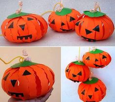 The spirit of Halloween is best celebrated with handmade crafts. Here are 31 easy to make DIY halloween craft ideas for kids. Diy Halloween, Theme Halloween, Halloween Paper Crafts, Halloween Decorations For Kids, Paper Crafts For Kids, Paper Decorations, Halloween Pumpkins, Halloween Projects, Halloween Night