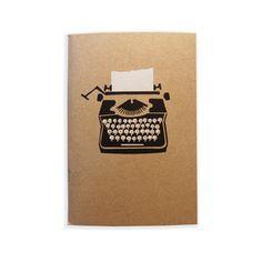 typewriter pocket-sized notebook