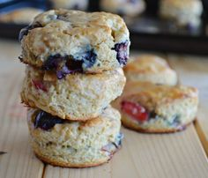 Mixed Berry Biscuits - Sugar Dish Me