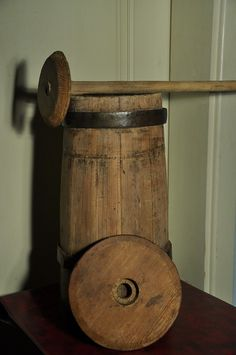 1800's Wooden Butter Churn- just like me and granny used to make butter