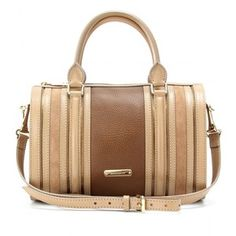 Burberry London Alchester Suede And Leather Bowling Bag - Polyvore New nappy bag - maybe?