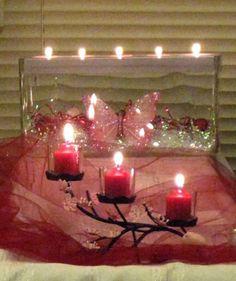 Valentine's Day candle display with PartyLite products! www.partylite.biz/heathergarner