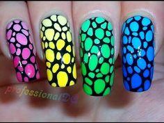 The amazing Beth aka ProfessionalDQ-Rainbow Dinosaur Print #tutorial #video #nail