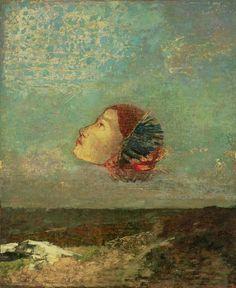 Odilon Redon (1840-1916) - Homage to Goya, 1885