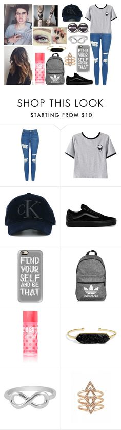 """""""You weren't just a star to me, you were my whole damn sky."""" by jblover-1fan on Polyvore featuring Topshop, Chicnova Fashion, Calvin Klein Jeans, Vans, Revlon, Casetify, adidas, Victoria's Secret, BaubleBar and Jewel Exclusive"""