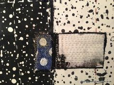How do we know when it is night (detail) by Dorothy Caldwell, seen at the Fine Art Quilt Masters at the 2013 Festival of Quilts