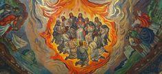 Mozaika stvárňujúca zoslanie Ducha Svätého, ktorá sa nachádza v katedrále St. Louis v Missouri. Foto - Wikimedia