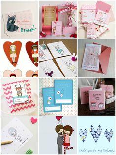 round-up: one dozen free valentine printables || imaginegnats.com