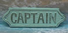 Captain Sign Plaque Cottage Chic Beachy by TamarasTreasureTrove