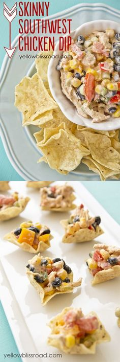Skinny Southwest Chicken Appetizer recipe – Greek Yogurt makes this recipe just as healthy as it is delicious!