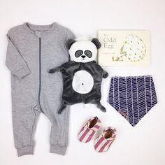 I think we might just hang out in our pj's all day today. #ootd featuring the zippy sleeper, bandana bib and mm booties.