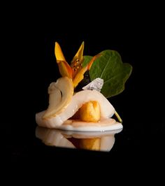 3 Michelin star dish; Coquille St. Jacques Jonnie Boer, Zwolle, Holland