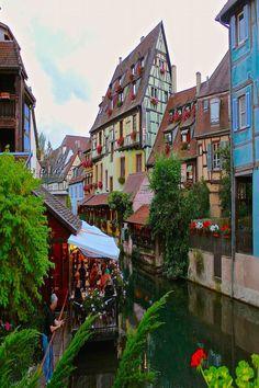 The Little Venice area of Colmar France