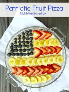 Patriotic Fruit Pizza- My Life Well Loved