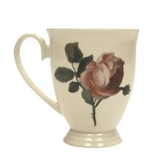 Nattier Rose Mug. This bone china mug is inspired directly by Jean-Marc Nattier's Manon Balletti, and it's the perfect way to make every cuppa feel special. #nattier #rose