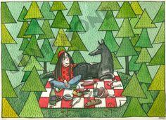 Picknick mit demWolf