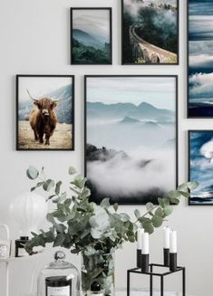 Stylish poster with photography on a Highland cow, of the breed Highland cattle. Being in a rugged landscape, the highland cow is perfectly Inspiration Wall, Interior Design Inspiration, Poster Wall, Poster Prints, Poster Store, Wall Decor, Room Decor, Wall Art, Beautiful Posters