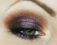 Jesienne barwy Makijaż krok po kroku , step by step makeup