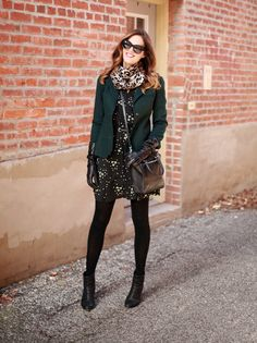What I Wore. Cute winter outfit Hundreds of every day style ideas to help you look and feel your best. Cute Winter Outfits, Pretty Outfits, Stylish Outfits, Fall Outfits, Outfit Winter, Dresses In Winter, Cold Weather Dresses, Girly Outfits, Dress Outfits