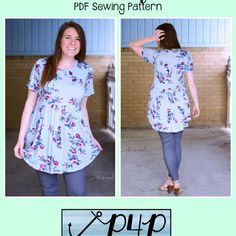Boho Babydoll by Patterns for Pirates Plus Size Patterns, Pdf Sewing Patterns, Clothing Patterns, Sewing Ideas, Sewing Projects, Boho, Bohemian Style, Patterns For Pirates, Curve Tops