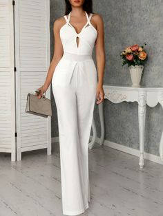 Cutout Crisscross Bandage Wide Leg Jumpsuit, You can collect images you discovered organize them, add your own ideas to your collections and share with other people. Classic Work Outfits, Classy Outfits, Chic Outfits, Trend Fashion, Womens Fashion, Fashion Styles, Fashion Fashion, Latest Fashion, Spring Fashion
