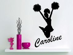 Wall Decal Girl Name I Cheer Cheerleader Sticker Personalized Name Nursery Baby Kids Custom Name Vinyl Sticker Decals Home Decor Art Bedroom Design Interior C288. Made in USA & Fast shipping. High Quality Vinyl material!. Size of the Decals is 22''x35''. The size in the picture is for showing purpose and can be bigger. Need custom size? Just Message me. Please message us about your color choice and provide NAME after the payment! If we do not get the message from you during 24 hours you…