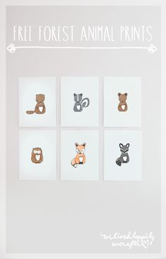 Free Forest Animal Nursery Prints