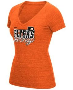 Reebok Women s Philadelphia Flyers Laced Up T-Shirt - Orange XL Lace Up T  Shirt 3d57284f8